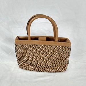 HEAVY THATCH WEAVE TOTE COOL RETRO LOOK BAG